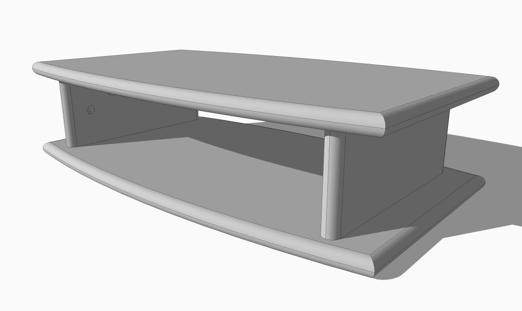 Small TV Stand Drawing - Single High Version
