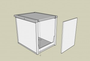 Flip Top Cabinet Sketch-up Design